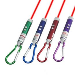 Wholesale Blue Laser Key - Mini Flashlight Carabiner Key Chain Mini 3 in1 Multi Color LED Key Chain Flashlight Red Laser Pointer Flashlight Mini Money Detector free sh