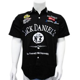Wholesale F1 White - Embroidery F1 Shirt Supercar Racing Cotton Shirt for Jack Dennis Motorcycle shirt C38