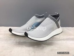 Wholesale Pearl Socks - NMD CS2 Pearl Grey running shoes Womens Mens NMD City Sock 2 Pearl Grey Sneakers high quality size 36-44