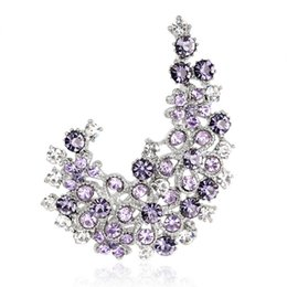 Wholesale Full Corsages - Fashionable exquisite brooch new Korean version of the full crystal corsage pin wedding women bride jewelry