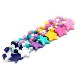 bracelet en gros de soins infirmiers Promotion 100% sans BPA Qualité Alimentaire DIY Silicone Bébé Chew Perles Bracelet de dentition