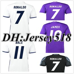 Wholesale Wholesale Real Madrid - DHL shipping 16 17 Real Madrid Soccer jersey Ronaldo MODRIC BALE KROOS ISCO BENZEMA 2017 football shirts JAMES jerseys