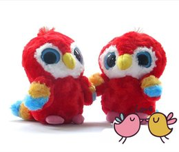 "Wholesale Doll Eyes For Sale - Wholesale- Aurora Plush doll Yoohoo animal toys for children,Scarlet Macaw toy - 8"" Lora,Big eyes parrot gift toy hot sale freeshipping"