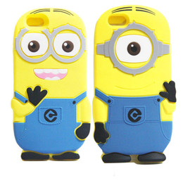 Wholesale 3d Minion Case - 3D Despicable Me 2 soft silicone case more minions for iphone 4 4S 5 5S 5C 6 7 PLUS Samsung galaxy S3 S4 S5 S6
