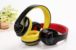 Wholesale black yellow headphones - JKR-213B Wireless Bluetooth Headphones Earphones Headsets 1 in 3 Function Mic MP3 FM Radio TF Card Slot For iOS Android MP3 MP4 PC