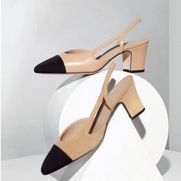 Wholesale thick strap heels - 2017 New Spring Thick With Heel Women Sandals Shoes Mixed Colors Leather Flock Round Toe Square Strap Heel Women Single Pump shoes