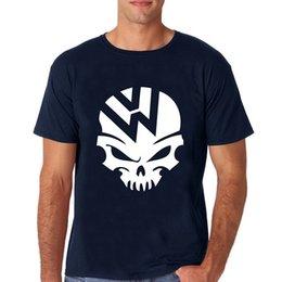 Новый 2017 хлопок с коротким рукавом футболки смешные футболки мужчины повседневная фитнес мужчины футболки VW череп короткие рубашки для мужчин от