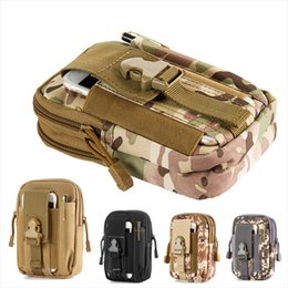Wholesale Clip Wallet For Men - iPhone7 For homtom Tactical Military Molle Hip Wallet Pocket Men Outdoor Sport Casual Waist Belt Phone Case Holster Army Camo Camouflage Bag
