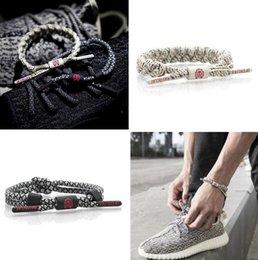 Wholesale Lion Link Chain Wholesale - California Rastaclat Braiding Lion Shoelace Bracelets Wristband Adjustable Ties Couples Sport Bracelet Limited Edition Free Shipping