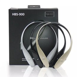 Wholesale Retractable Bluetooth - HBS900 Bluetooth Headphone Wireless Earphone HBS 900 Stereo Sports Retractable Headsets for smart phone Without logo with package