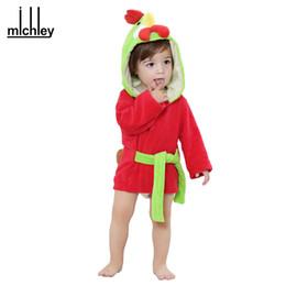 Wholesale Animal Print Infant Robe - Retail Girl Boy Baby Bathrobe 6 Designs Hooded Animal modeling Spring Animal Cartoon Baby Towel kids infant bath towels