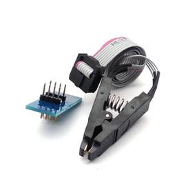 Toma sop8 online-SOIC8 SOP8 Flash Chip IC Prueba de clips Adaptador de socket BIOS / 24/25/93 Programador