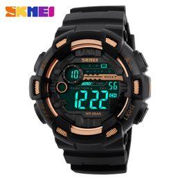 Wholesale Double Chronograph Watch Men - Wholesale- SKMEI 1243 Men Digital Wristwatches Countdown Chronograph Watches Double Time Alarm Sport Watch 50M Waterproof Relogio Masculino