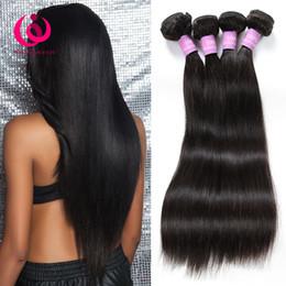 tissu droit péruvien 4pcs Promotion Cheveux brésiliens d'armure humaine droites 4pcs / lot Wow Queen produits pour les cheveux doux et épais indien péruvien malaisien extensions de cheveux vierges