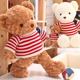 Wholesale Baby Teddy Bear Clothes - 65 cm Giant Large Kids Baby Toys Girl's Birthday Gifts Plush Teddy Bear with Clothes Stuffed Animal Bear Dolls Children's Day Gifts