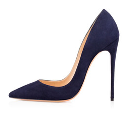 Wholesale Ladies Blue Suede Shoes - Zandina Ladies Handmade Fashion ASO-kate 120mm Pointed Toe Classic Party Slim Heel Pumps Stiletto Shoes Suede Blue