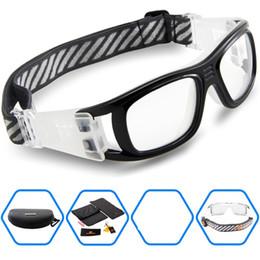 gafas de fútbol al por mayor Rebajas Al por mayor-2016 Gafas protectoras de los deportes de los hombres gafas para baloncesto de fútbol de adultos del rugbi del hockey del fútbol Etiqueta Dribble gafas