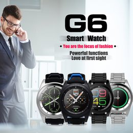 Wholesale Remote Monitoring System - G6 Bluetooth Smart Watch For Android IOS System Wireless Smart Watch Support Pedometer Sleep Monitor with Retail Package OTH354