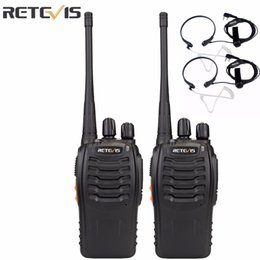 Wholesale Radios Communicators - Wholesale- 2pcs Walkie Talkie Retevis H777 UHF 400-470MHz Transceiver 16CH Ham Radio Portable Radio Amador Communicator A9105A