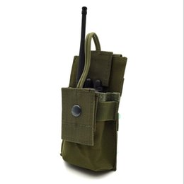 Wholesale M4 Mag Pouches - outdoor Adjustable MOLLE Radio Holder Tactical Walkie Talkie Holster Open Top M4 Mag Pouch