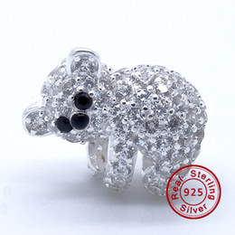 Wholesale Lovely Letters Bead - Lovely Koala Animal 100% 925 Sterling Silver Beads Fit Pandora Charms Bracelet Authentic DIY Fashion Jewelry