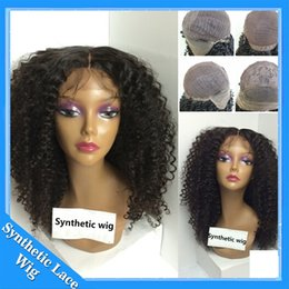 Wholesale Long Hair For Sale - Kinky Curly Synthetic Wig Long Black Curly African American Wigs Afro Curly Wigs for Women Sale Black Hair Heat Resistant