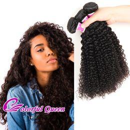 Wholesale Afro Kinky Human Braiding Hair - 7A 3 Pcs Malaysian Curly Virgin Hair Bundles Malaysian Afro Kinky Curly Human Hair Weft Extension for Croche Braid Jerry Curl Human Hair
