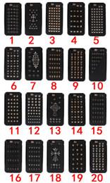 Wholesale Iphone Skin Case Design - 3D Cool Punk Rock Skull Design TPU+Leather Case Handmade Wild Spikes Studs Rivet Skin For iPhone 5 5S SE 6 6S Plus 7 7 Plus Phone Cases