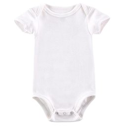 Wholesale plain baby clothes - AbaoDo new arrival 100% cotton baby rompers infants short sleeve bodysuit plain white newborn clothing top quality onesies