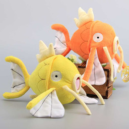 "Wholesale Stuffed Easter Toys - 2 Colors Magikarp Pokémon Pocket Monsters pikachu Plush Stuffed Animals Toy For Children Gift ( Size:8"" 20cm) -D001"