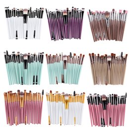 Wholesale 22 Makeup Brush Set - 20Pcs Cosmetic Makeup Brushes Set Powder Foundation Eyeshadow Eyeliner Lip Brush Tool Package by Opp Bag with 22 style Free Shipping