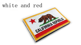 Wholesale California Republic Flag - Embroidered CALIFORNIA REPUBLIC State Patches United States State Flag Patch Tactical 3D Badge Magic sticky Flag Armband Cloth Badges