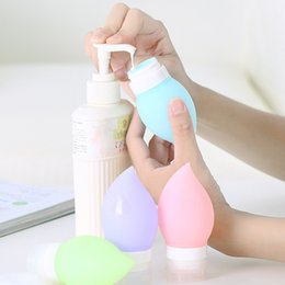 Wholesale Bamboo Gel - Wholesale- 1pc Outdoor Water Shape Mini Portable Refillable Travel Bottles Silicone Squeeze Bottles For Shampoo Shower Gel Lotion IC873745
