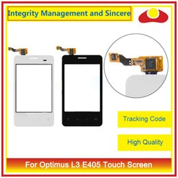 """Wholesale Optimus L3 Screen - High Quality For LG Optimus L1 II E410 3.0"""" L3 E405 3.2"""" E415 3.0"""" Touch Screen Digitizer Outer Glass Lens Panel Black And White"""