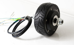 Wholesale Electric Drive Motor Bike - 4inches BLDC hub motor with tyre hall sensor and EABS function enable for electric scooter bike motorycle front or rear driven