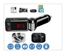 Kit Transmissor de Rádio FM Car MP3 Player de Música Sem Fio Bluetooth Display Digital Com 2 Porta USB AUX jack Mão-Livre BC-06 supplier car mp3 player jack de Fornecedores de leitor de mp3 do carro