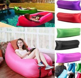 Wholesale Fast Chairs - DHL Modern Living Room Sofa Foldable Gas Lazy Sofas Beds Sunshine Beach Fast Inflatable Chairs Park Sleeping Bags Equipment Home Furniture