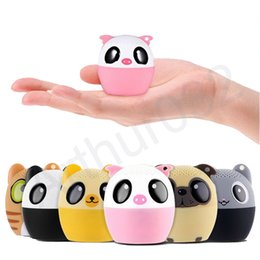 Wholesale Cartoon Mini Mp3 Player - Super Cool Cartoon Bluetooth Speaker with Self Timer Portable Cute LoudSpeaker Bass Animal Subwoofer Outdoor Speakers Music MP3 Player