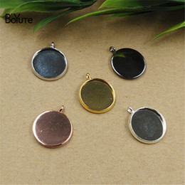 Wholesale Ring Tray Set - BoYuTe 100Pcs Round 10MM 12MM 14MM 16MM 18MM 20MM 25MM Cameo Cabochon Base Setting Pendant Blank Tray Diy Jewelry Making