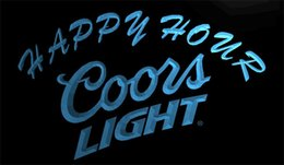 Wholesale Led Coors Light Signs - LS1266-b-Coors-Light-Happy-Hour-Beer-Bar-Neon-Light-Sign Decor Free Shipping Dropshipping Wholesale 6 colors to choose