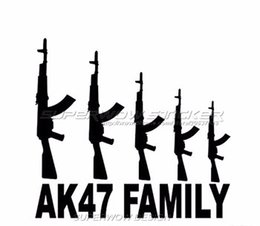 Wholesale AK FAMILY Car field military enthusiasts AK firearms E reflective stickers Reflective film carved car stickers