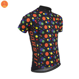 Wholesale Spot Shirt - Customized NEW 2017 Spot Colors Dots Classical JIASHUO mtb road RACING Team Bike Pro Cycling Jersey   Shirts & Tops Clothing Breathable