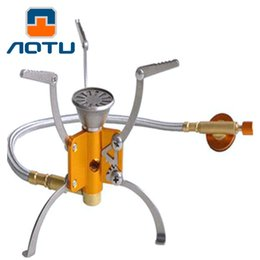 Wholesale Multi Fuel Camping - New Arrival AOTU outdoor kerosene Split stove burners and portable oil and gas multi fuel stoves 3000W AT108