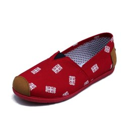 Wholesale ladies floral shoes - New Summer Style Women Shoes Comfortable Casual Slip On Women's Flats Lady Loafers Canvas Flat Shoes Woman zapatos mujer WSH488