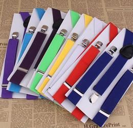 Wholesale Suspenders For Men Colors - Wholesale- 12 Colors! 2.3*85cm Elastic Adjustable Adult Womens Mens Braces High Quality Suspenders For Women Men Tirantes Suspensorio