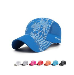 Wholesale Quick Nets - Best gift 2017 new spring and summer sun baseball cap men and women outdoor shade net hat hiking travel quick hat M121 with box
