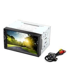 Wholesale Car Screen Double Din - 8001 Car MP5 Player 7 Inch 2 Double Din Navigation Bluetooth Radio Tuner FM with AUX USB SD Slot Remote Control Rear View Camera For Cars +B