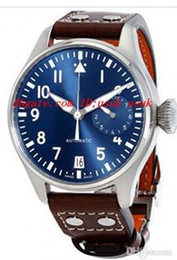 2017 qualidade superior de luxo relógio de pulso big piloto de meia-noite azul mostrador do relógio dos homens automáticos 46 milímetros mens relógios relógios. de Fornecedores de o relógio de quartzo funciona