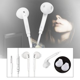 Wholesale Dj Ear - Top Quality White 3.5MM In-Ear Music Headset DJ Headphones With Mic Universal Earphone For Samsung S6 i9800 S6Edge S4 S5