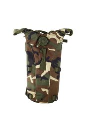 Wholesale Camo Hydration Backpacks - Good deal 2.5L TPU Hydration System Bladder Water Bag Pouch Backpack Hiking Climbing-Woodland camo